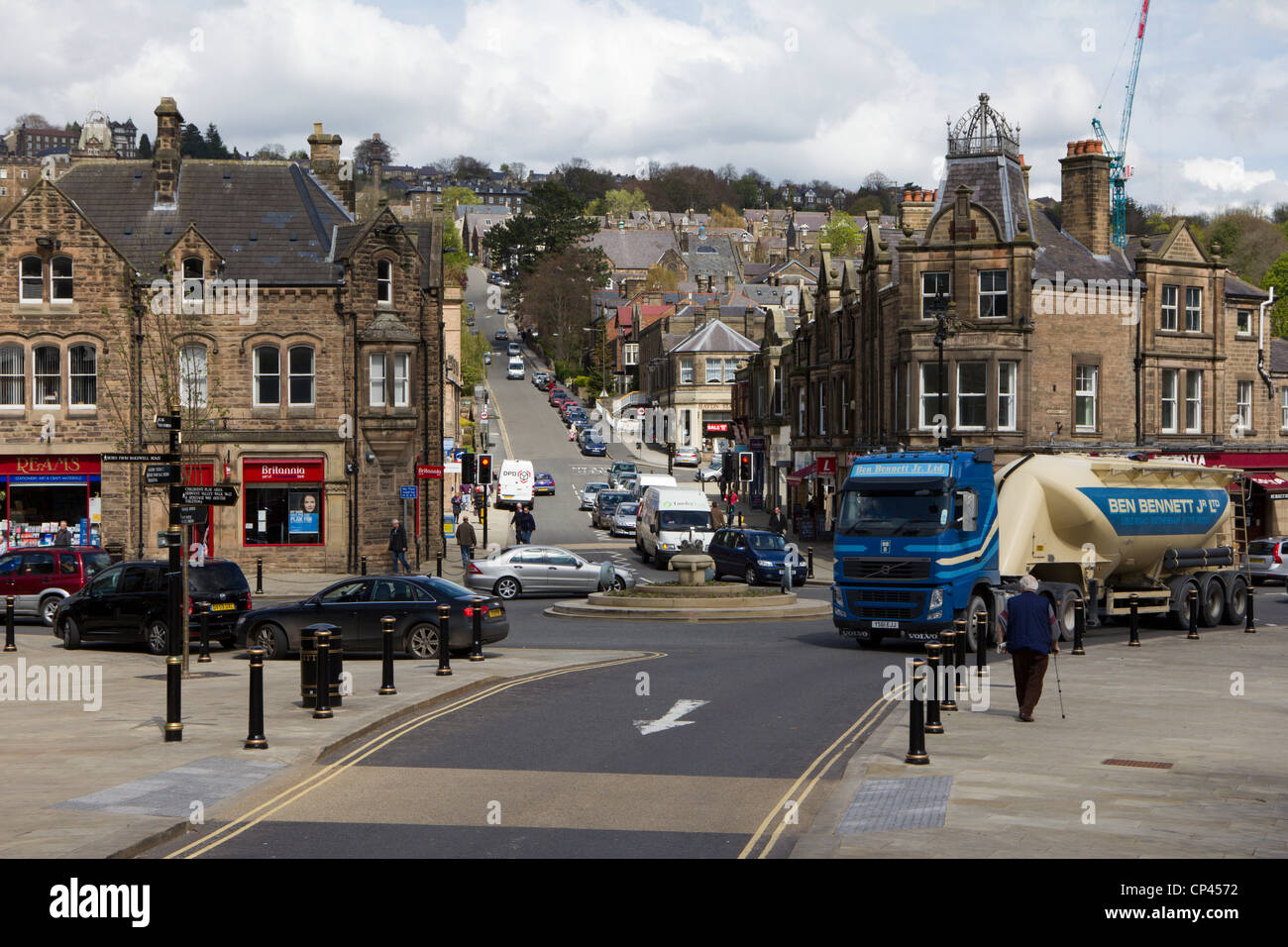 matlock town centre derbyshire england uk - Stock Image