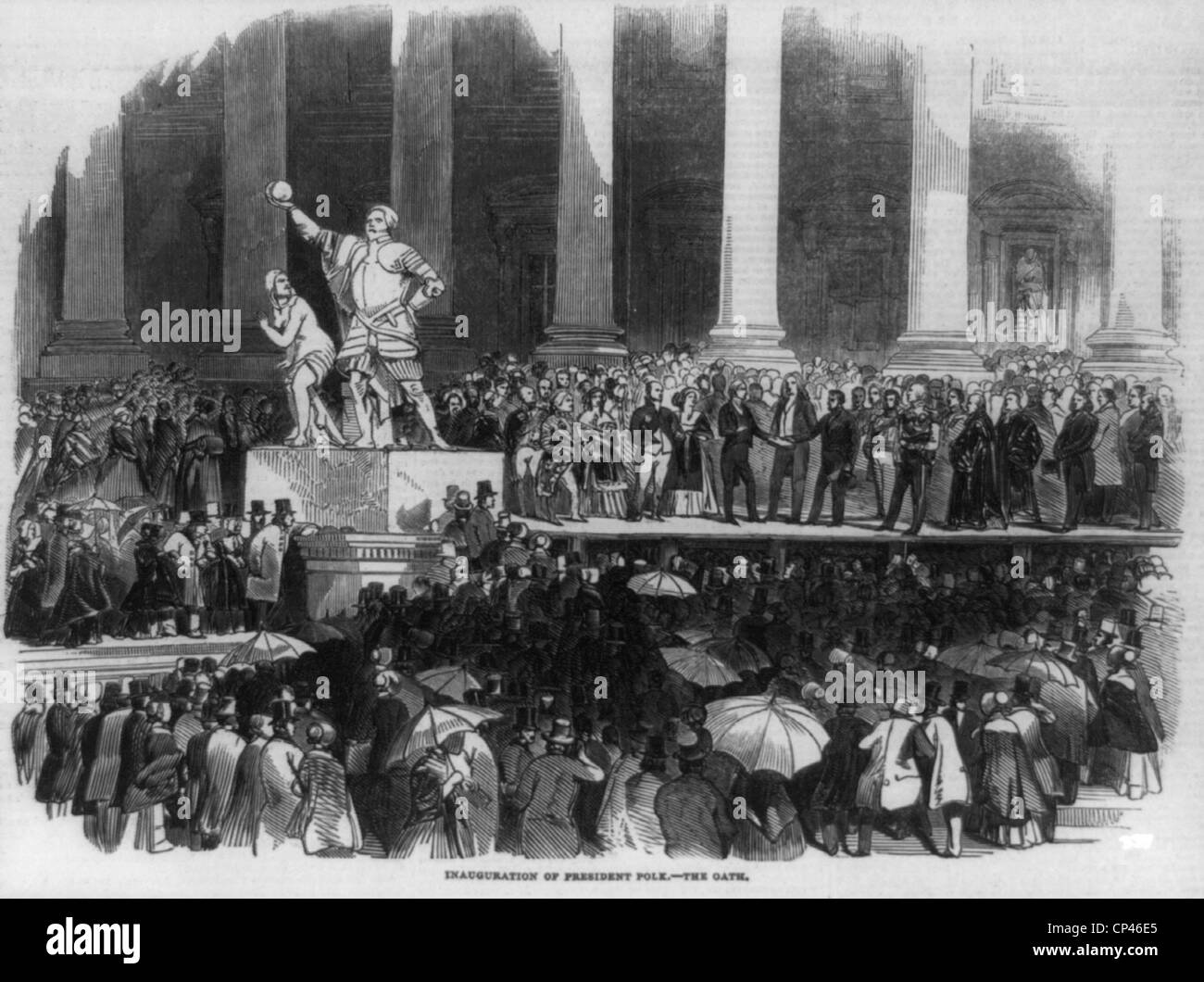 Inauguration of President James K. Polk, 1845 - Stock Image