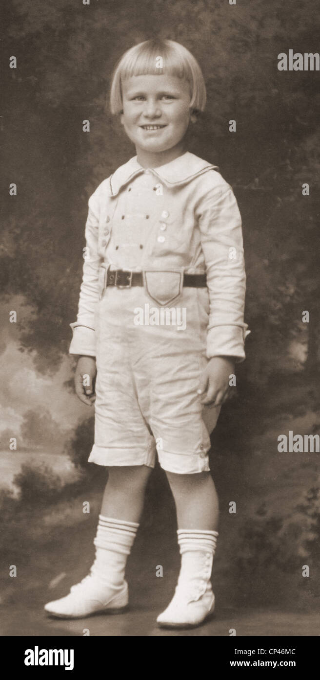 Gerald Ford as a boy. His mother married Gerald Rudolff Ford after divorcing the future President's violent - Stock Image