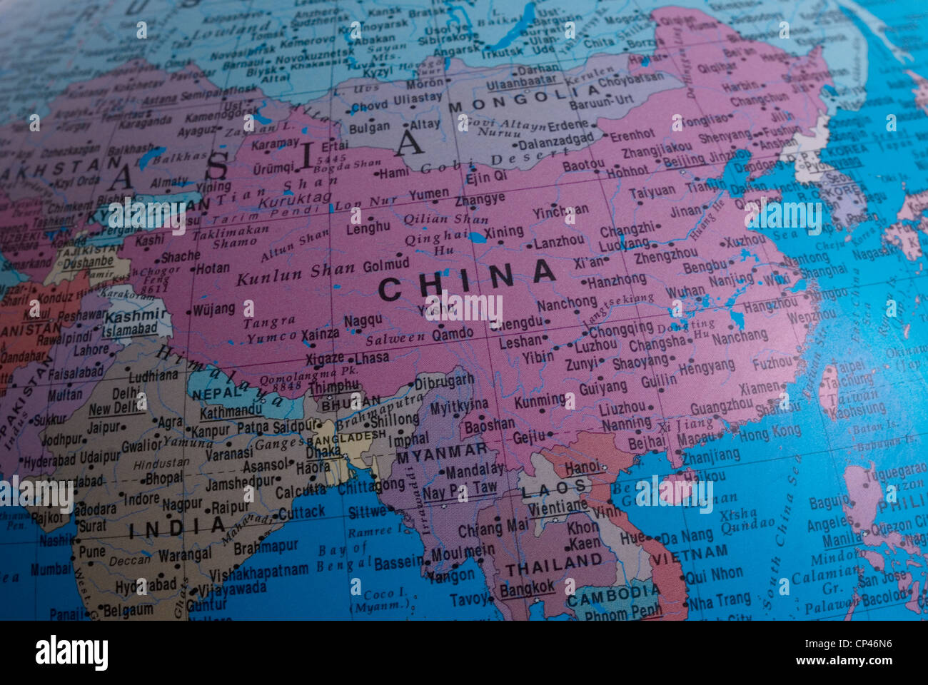 Close up of a map of china stock photo 48036274 alamy close up of a map of china gumiabroncs Image collections