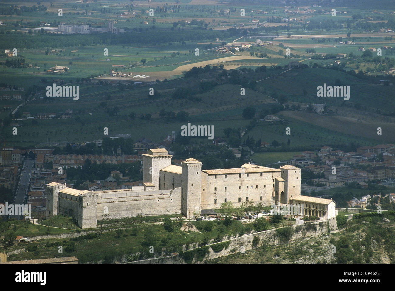 Umbria Spoleto (Pg). fortress, built in fourteenth century by Matteo da Gubbio Gattapone commissioned by Cardinal - Stock Image