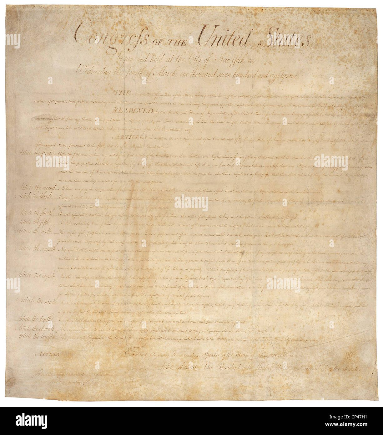 first 10 amendments to the constitution