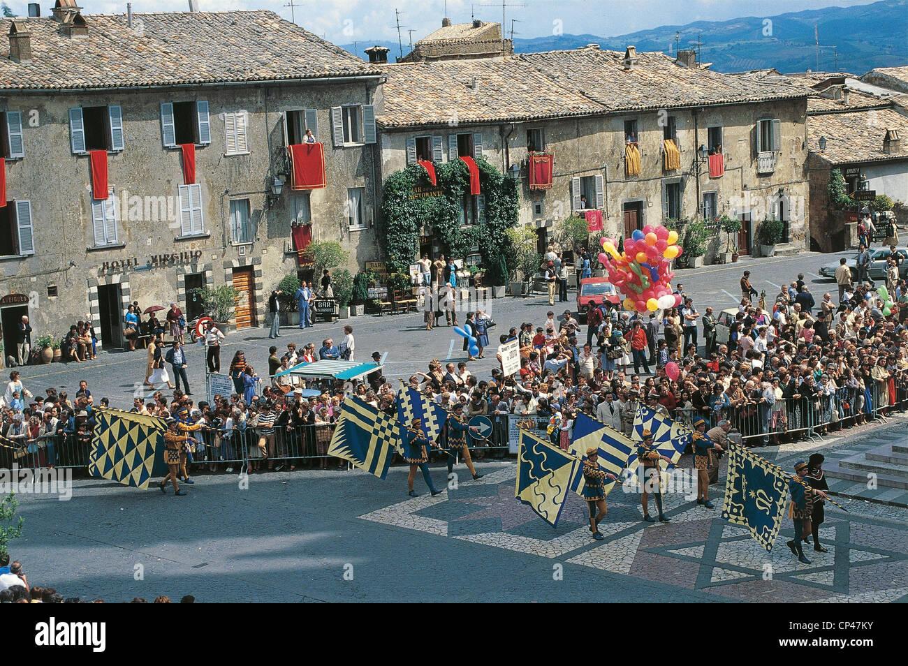Umbria - Orvieto (TR), the Historical Parade - Stock Image