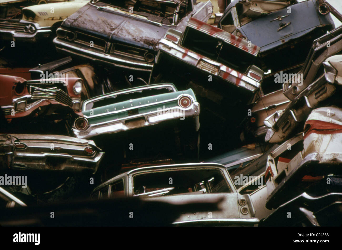 American cars crushed for scrap steel to be recycled in Japanese ...