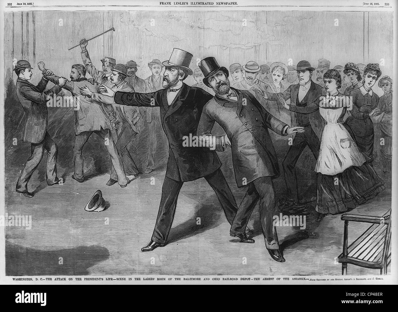 The attack on the President Washington DC - Stock Image