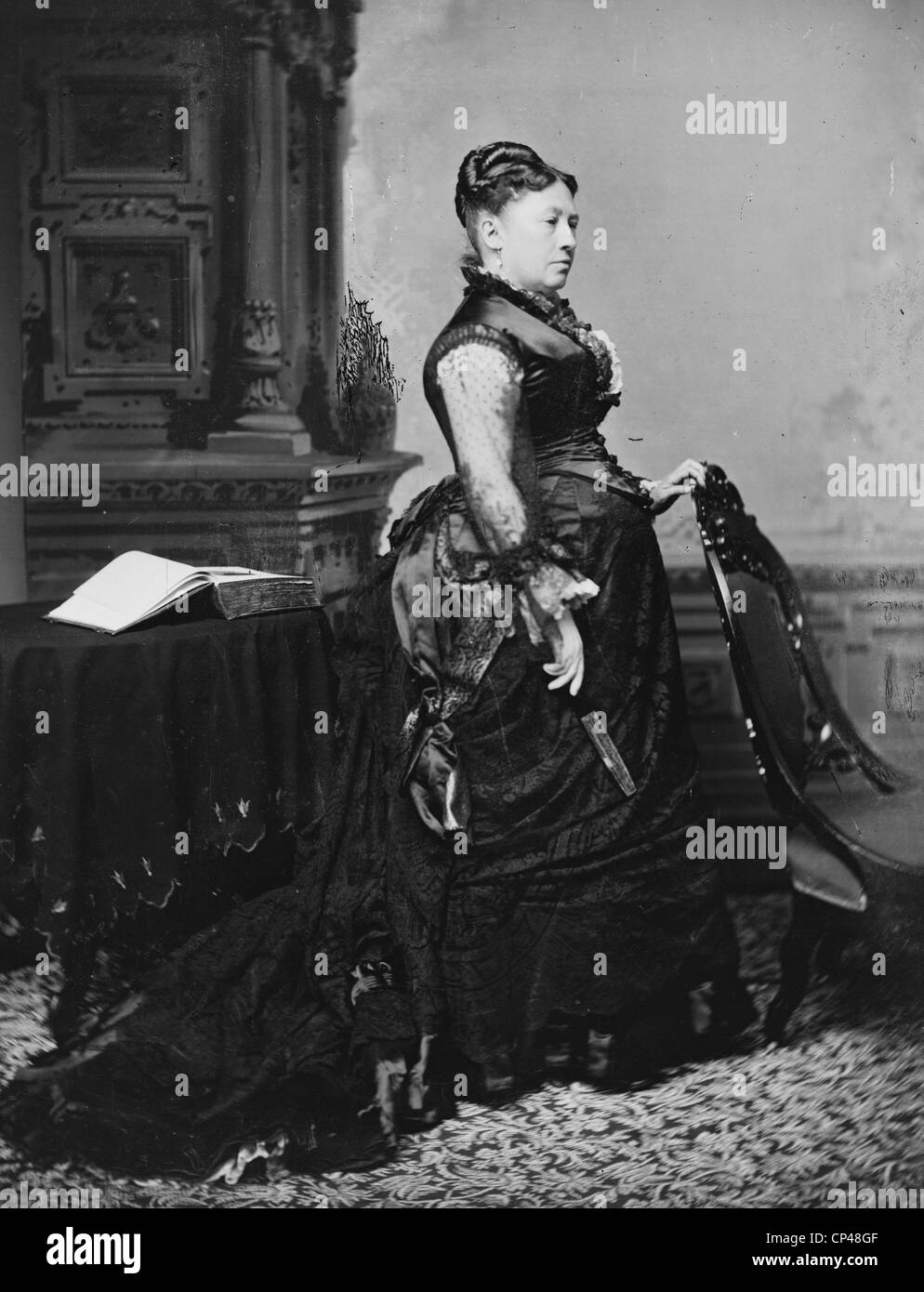 Julia Grant 1860s - Stock Image