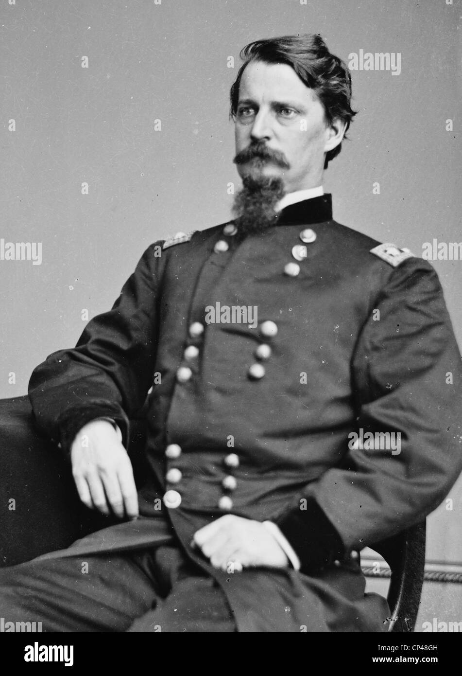 Maj. Gen. Winfield S. Hancock officer of the Federal Army 1861-1865 - Stock Image