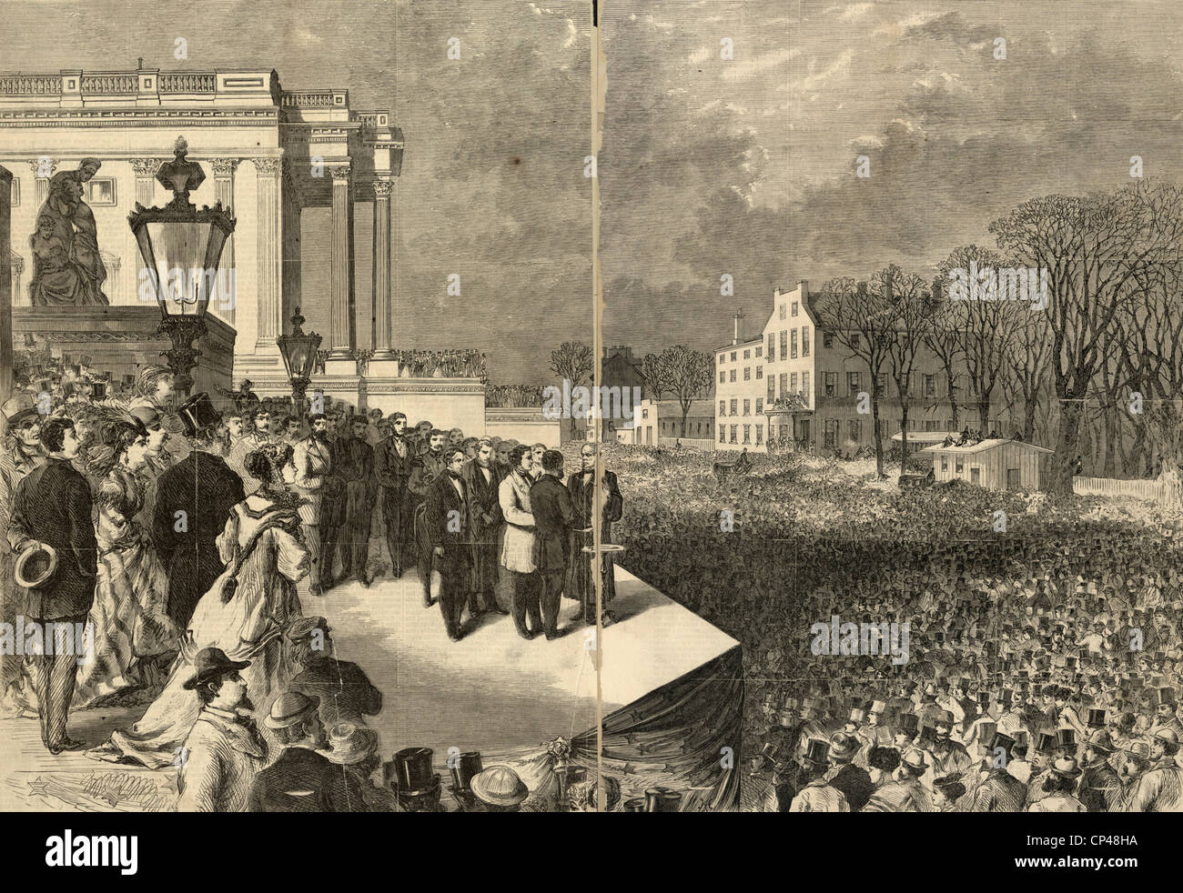 The inauguration of Ulysses S. Grant as president of the United States March 4th 1869 - Stock Image
