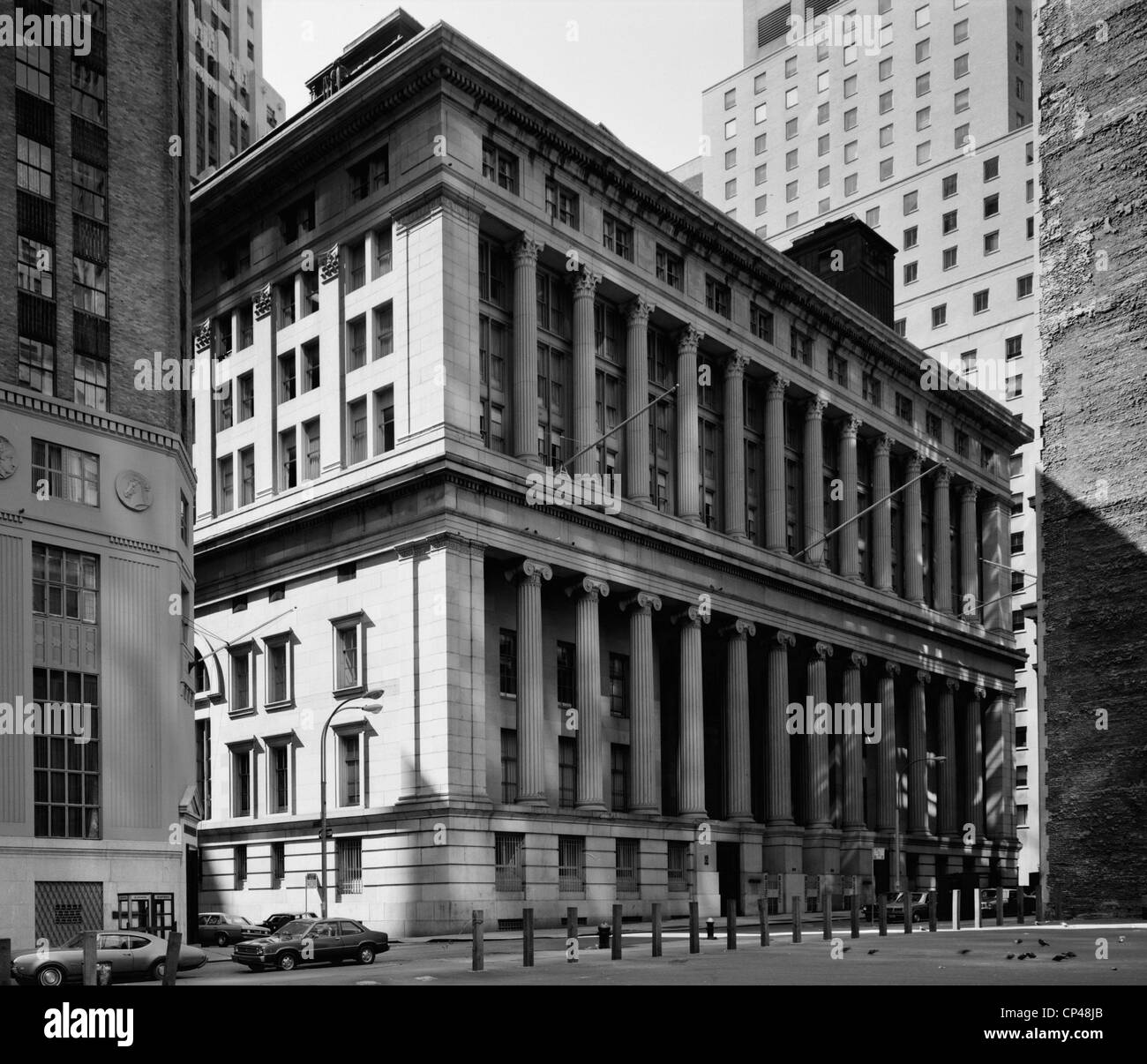 The Merchants Exchange NY. Used as the US Customs house 1862-1907 - Stock Image