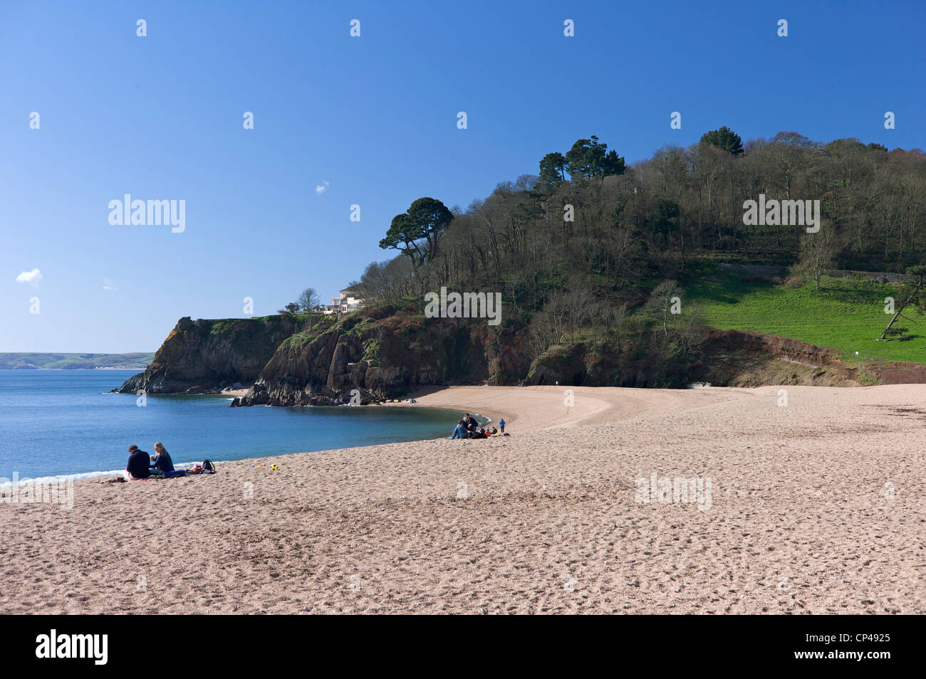 Blackpool Sands, South Devon, UK - Stock Image
