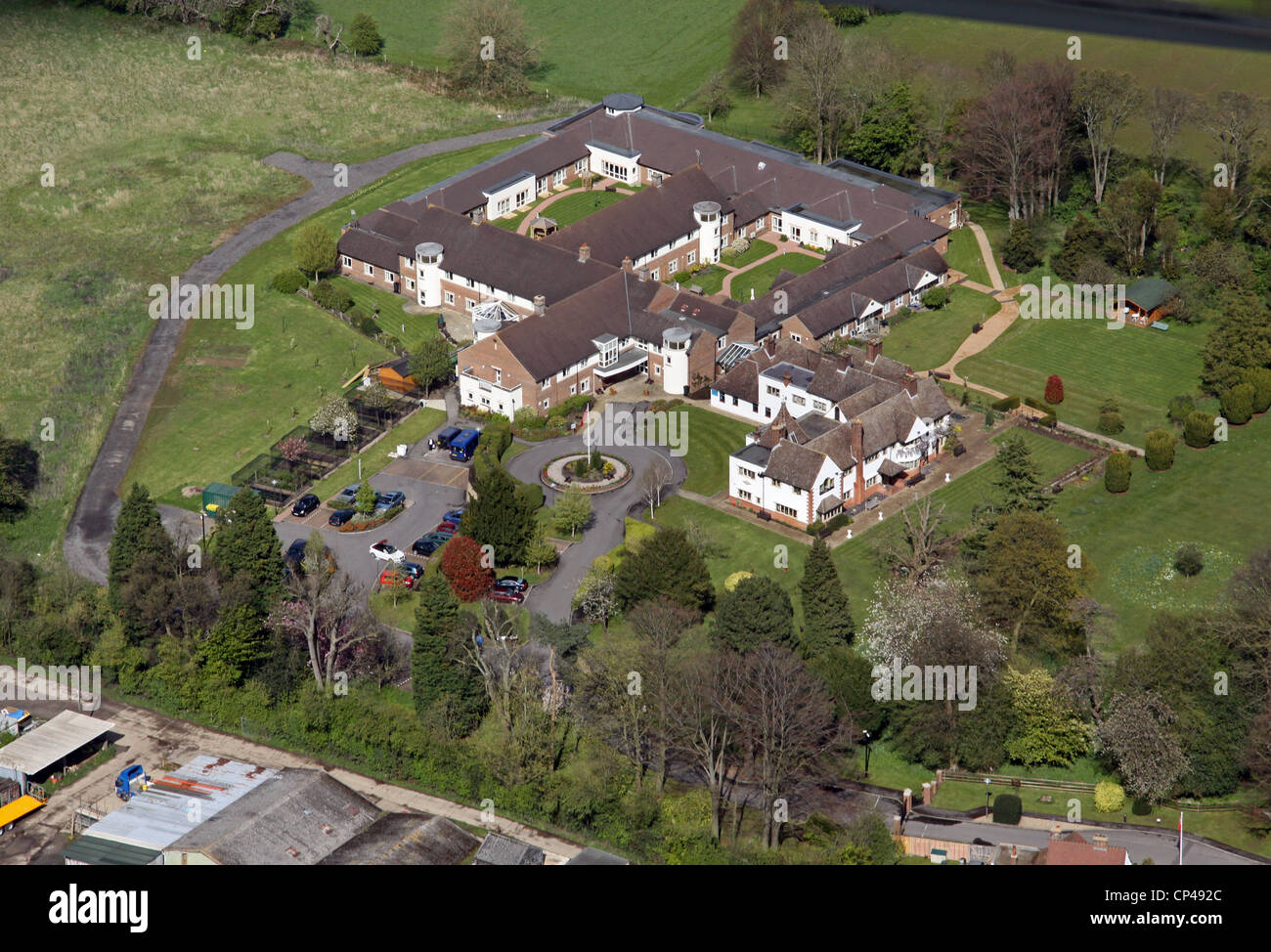 aerial view of the Royal Alfred Seafarers Society HQ near Banstead - Stock Image