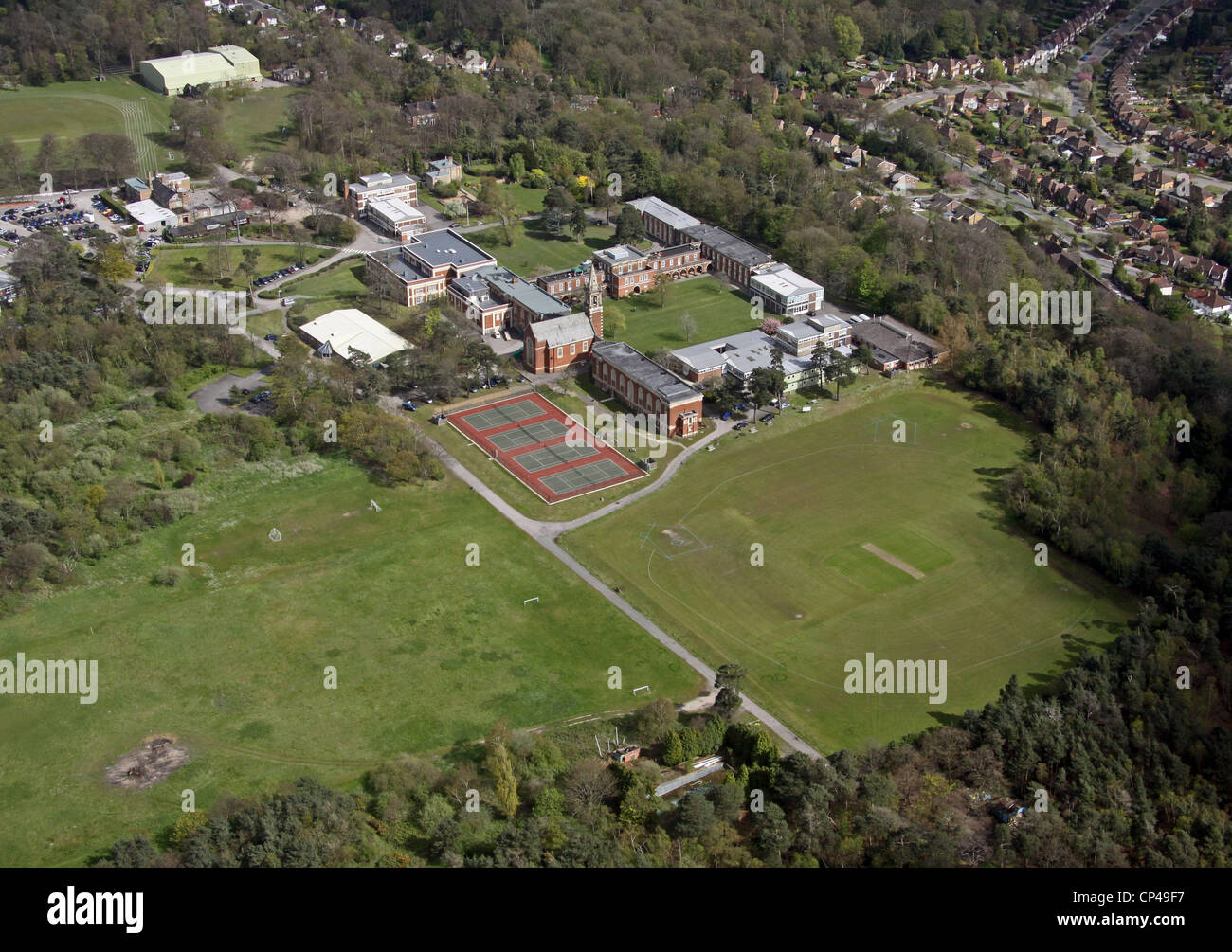 Aerial view of Royal Russell School, Croydon. - Stock Image
