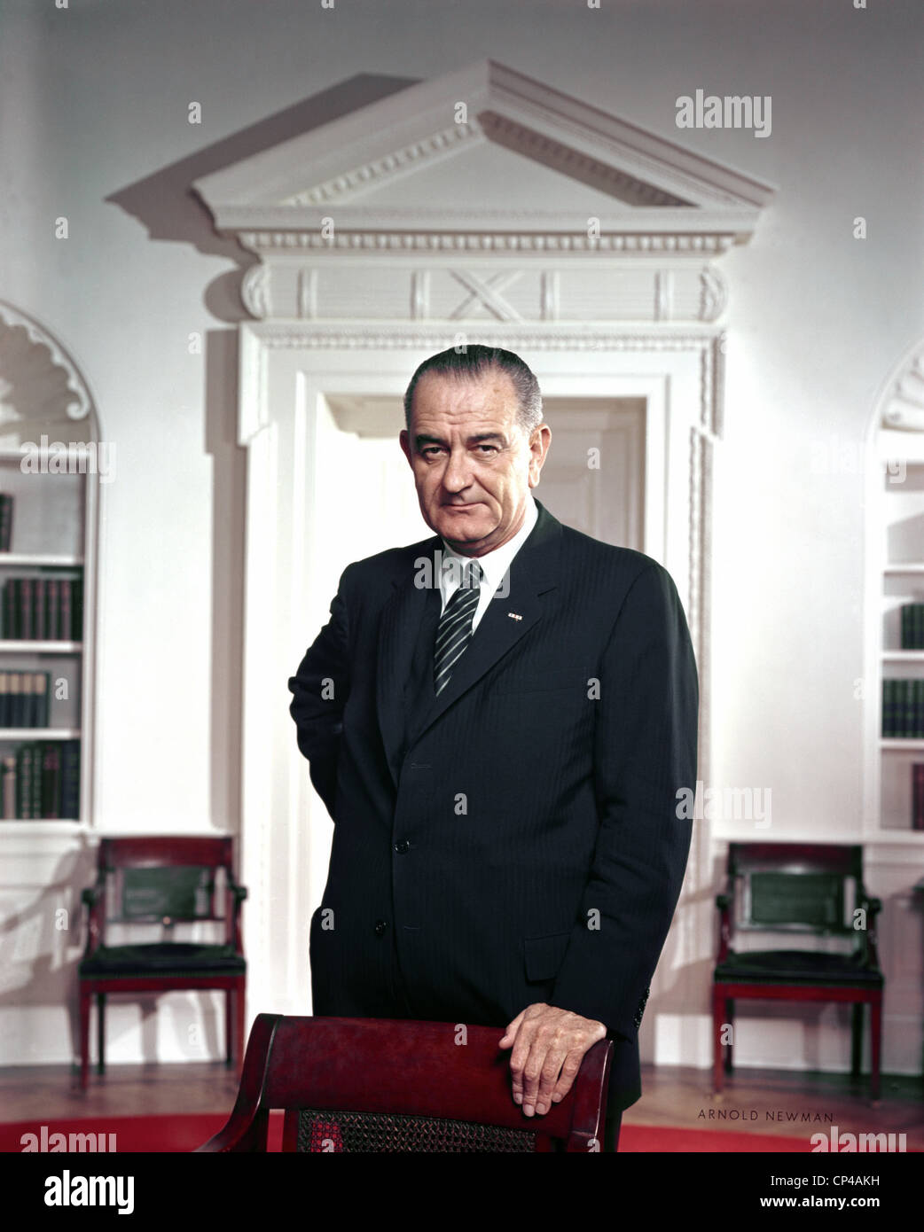 Official White House Portraits Stock Photos Minimal Carter Pleated Shirt Putih S President Lyndon Johnson Portrait Taken By Arnold Newman In The Oval Office Ca