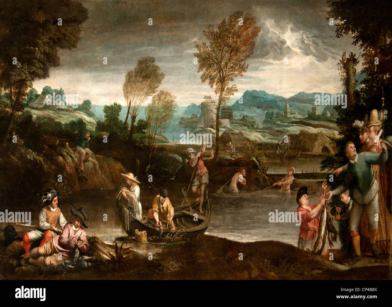 Fisheries 1585 by Annibale Carracci - Annibale Carrache 1560 - 1609 Italy Italian - Stock Image
