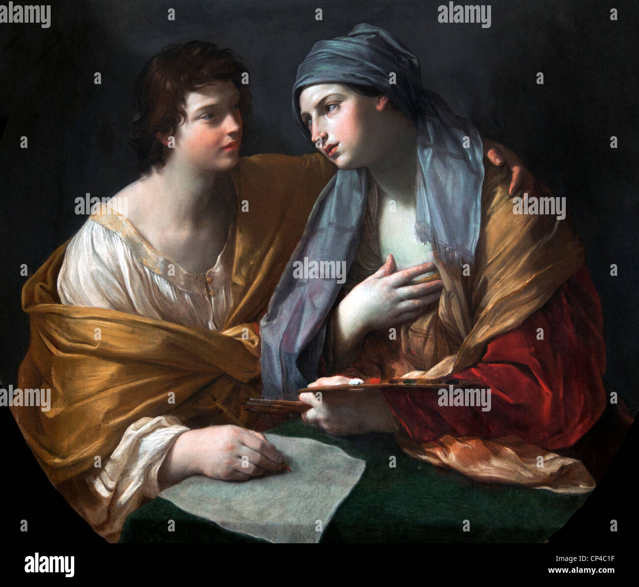 The Union of Drawing and Colour 1620 by Guido RENI 1575 –1642 Italy Italian - Stock Image