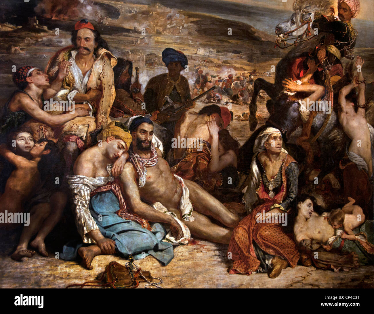 Massacres at Chios Greek Families Awaiting Death or Slavery 1824 by Eugène  DELACROIX 1798 –1863 French France