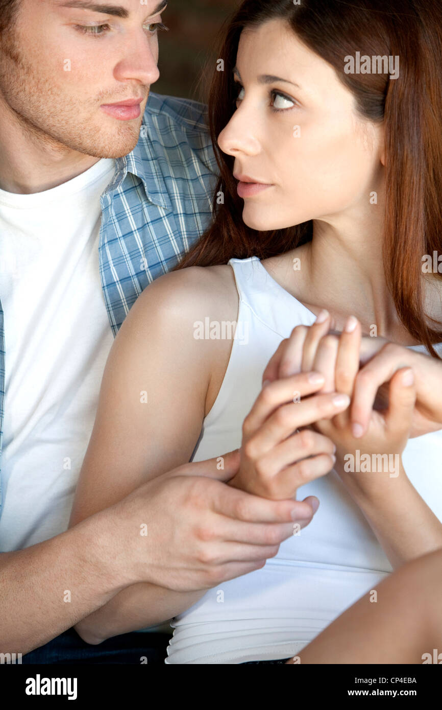 couple,complicity - Stock Image