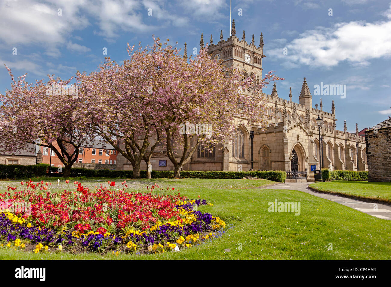 The Parish Church of All Saints Wigan. In the centre of the town. - Stock Image