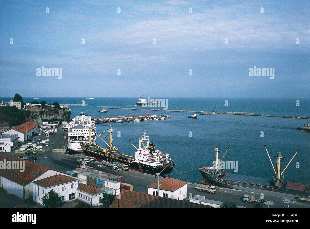 Algeria - Bejaja, port. Stock Photo