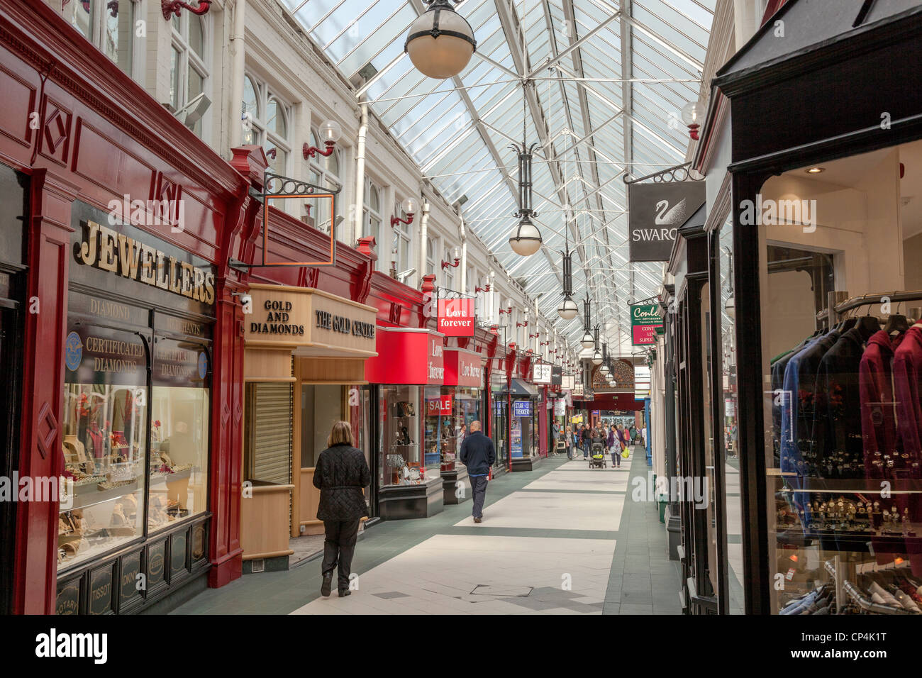The Makinson Arcade in the centre of Wigan. - Stock Image