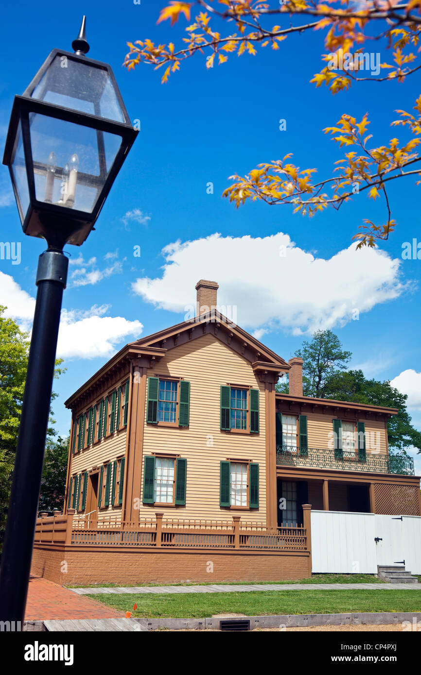 Abraham Lincoln's House in Springfield - Stock Image