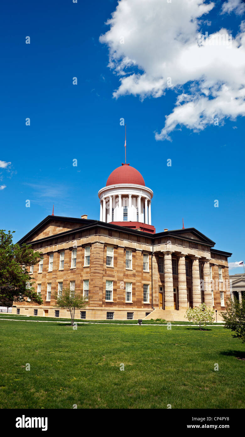 Springfield, Illinois - Old State Capitol - Stock Image