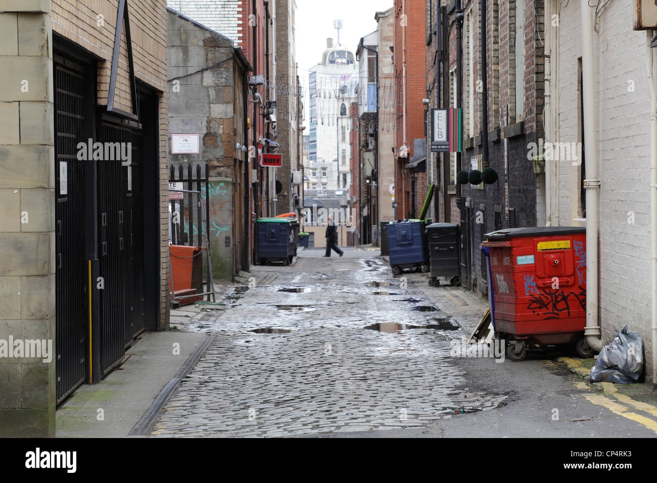 Bath Lane in Glasgow City Centre, Scotland, UK - Stock Image