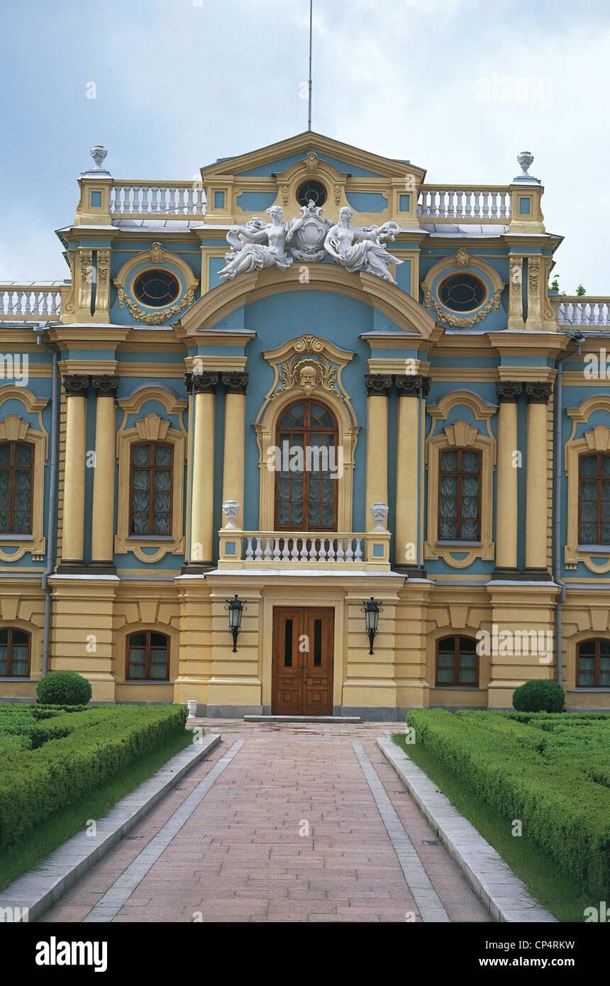 Ukraine - Kyiv (Kiev) - the Mariinsky Palace (1750-1755, architect Francesco Bartolomeo Rastrelli) - Stock Image