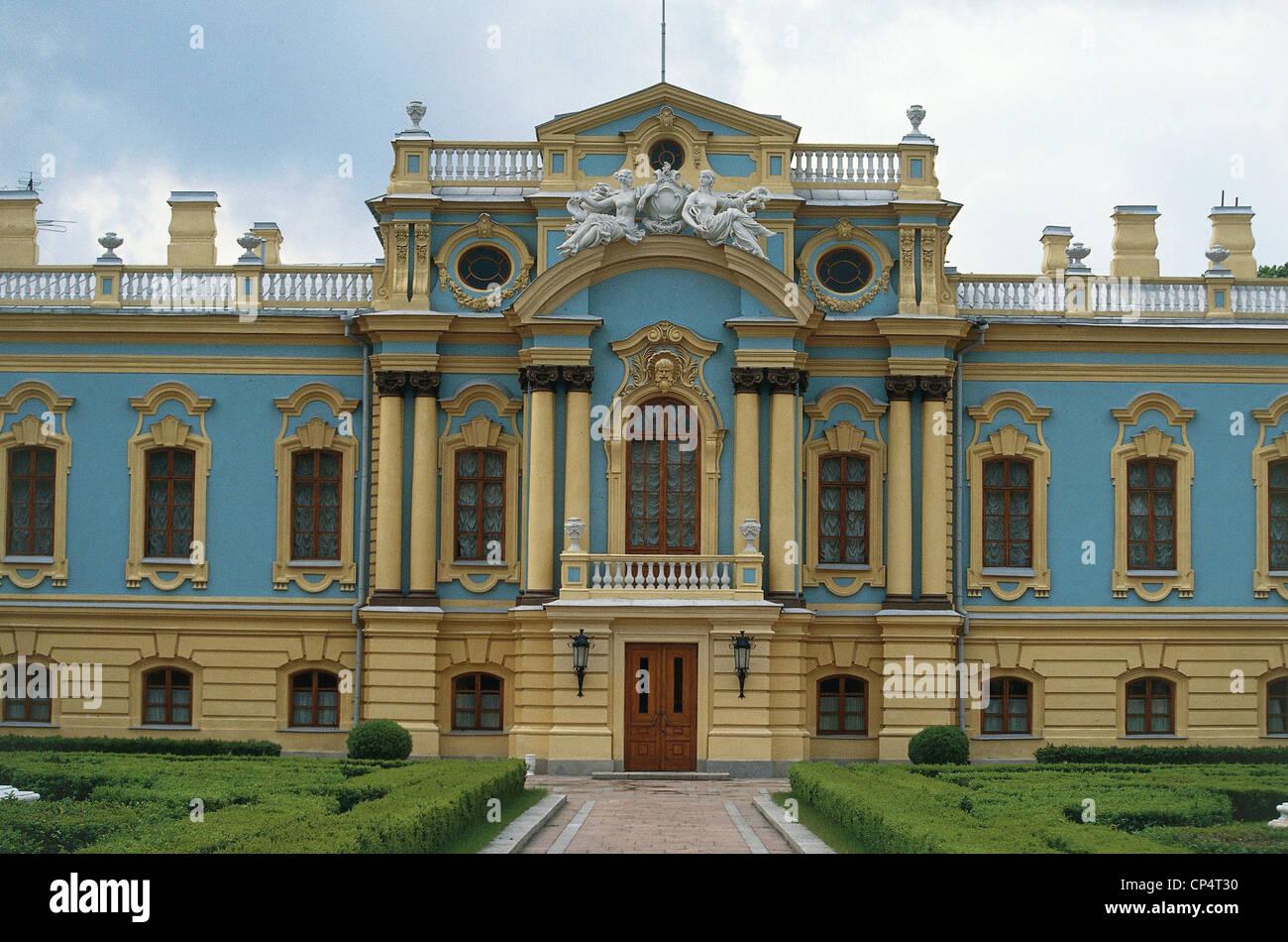 Ukraine - Kyiv (Kiev) - the Mariinsky Palace (1750-1755, architect Francesco Bartolomeo Rastrelli). - Stock Image