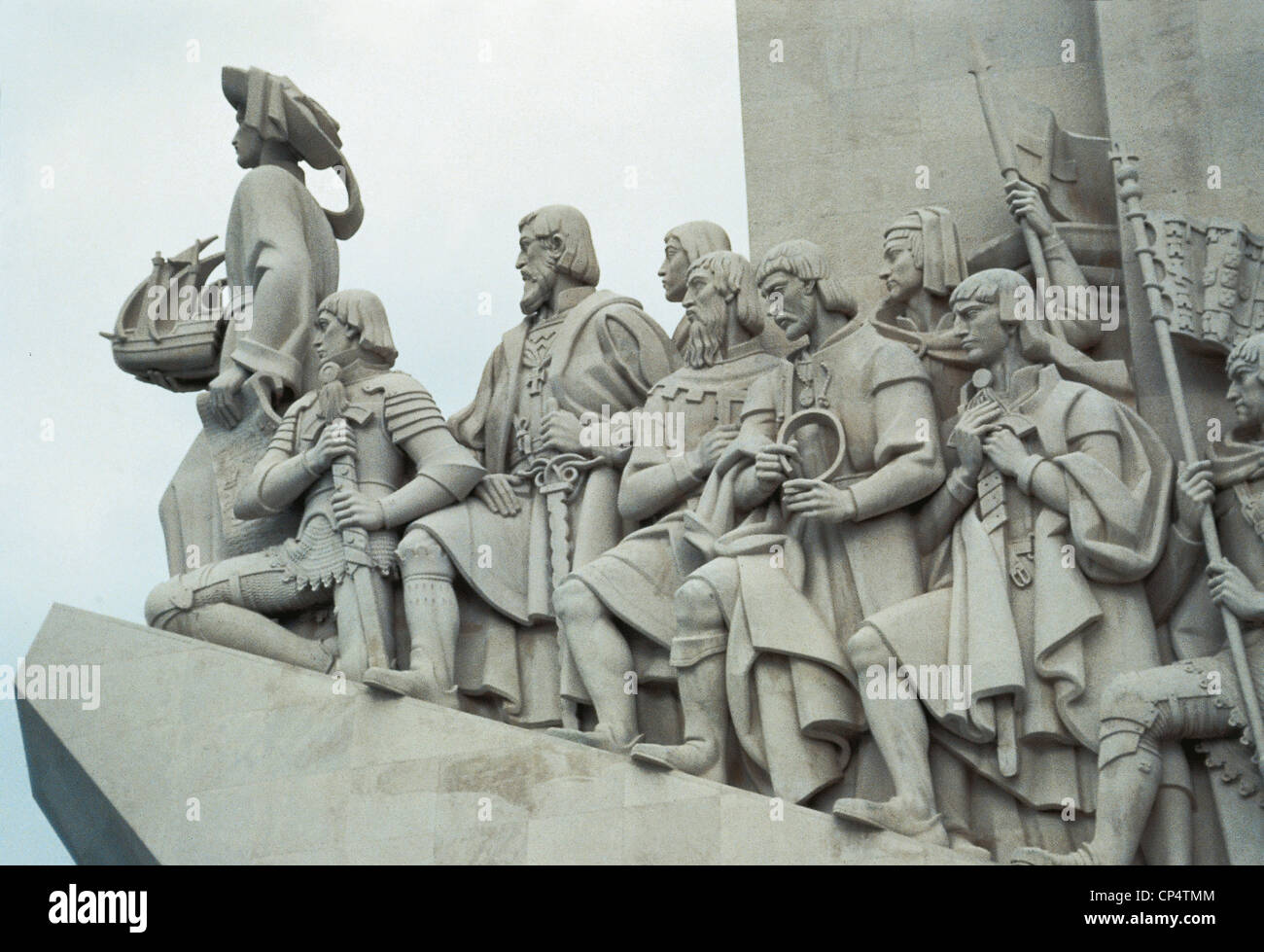 Portugal Lisbon Monument To Henry The Conqueror - Stock Image