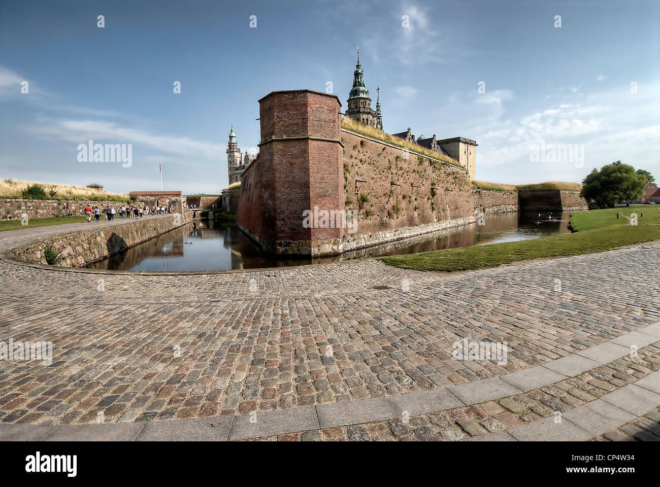 Renaissance Kronborg castle in Helsingor, Denmark. - Stock Image