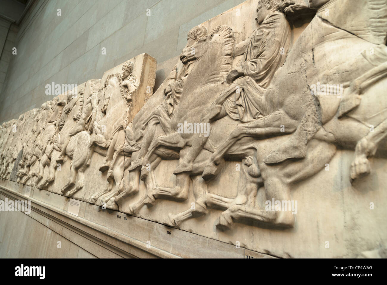 The Elgin Marbles From The Parthenon In Athens At The