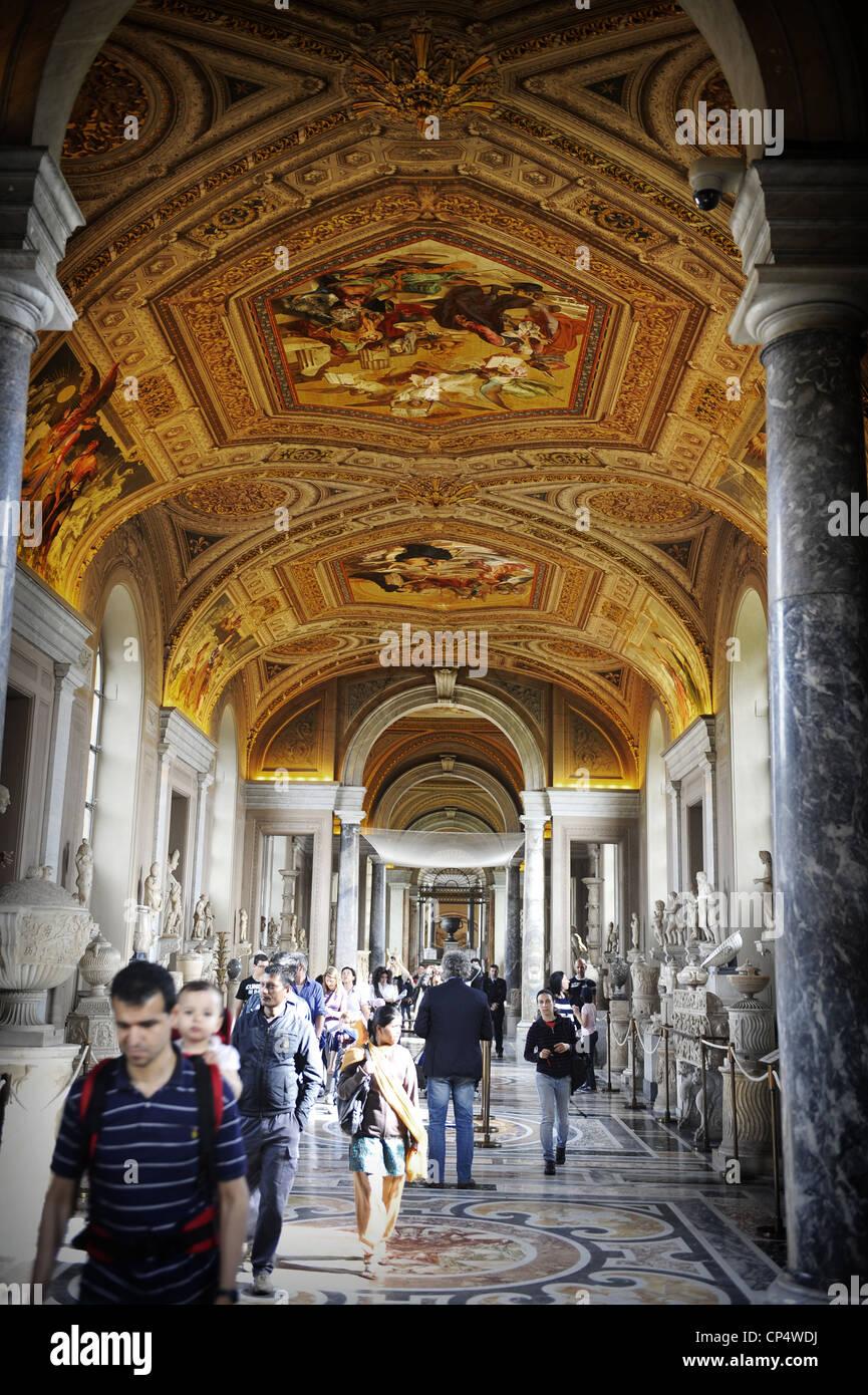 Ceiling Inside Vatican Museum, Vatican City, Rome, Italy