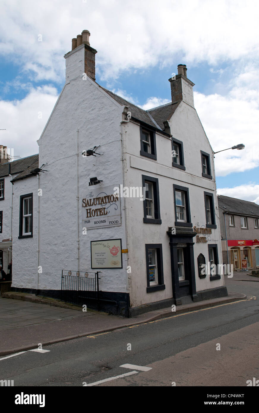 The Salutation Hotel in Kinross, Perthshire Scotland - Stock Image