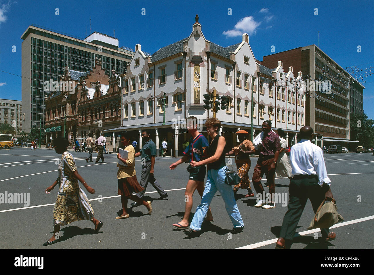 South Africa - Pretoria. Passers-by. - Stock Image