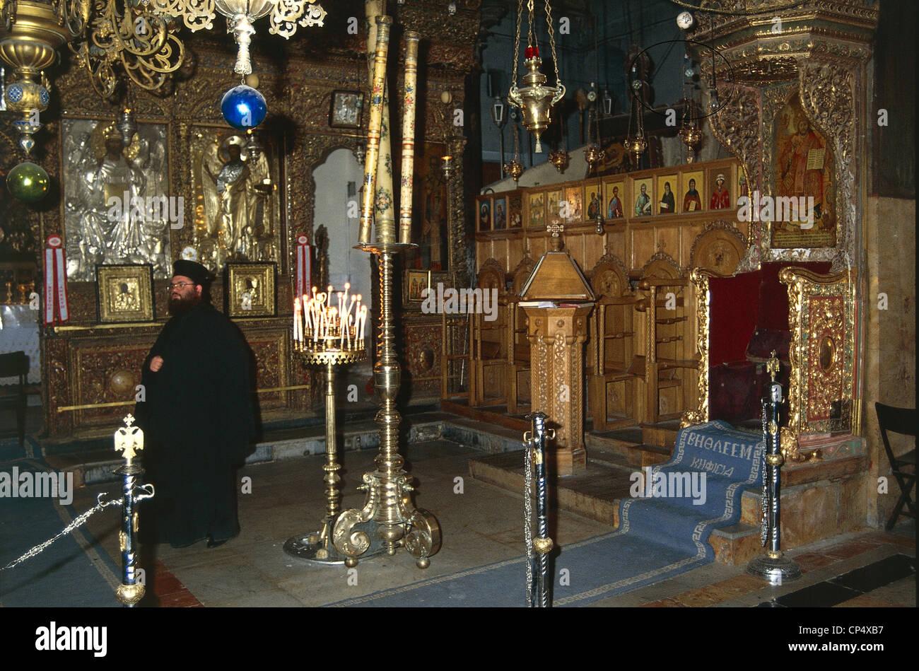 Israel - Bethlehem (Bayt Lahm) - Church of the Nativity, the internal Stock Photo