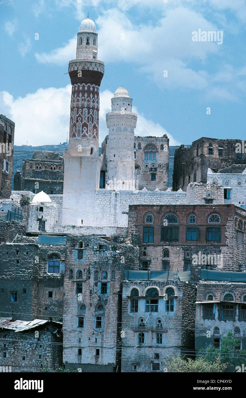 Yemen - Jiblah. The Mosque of Queen Arwa, XI century. - Stock Image
