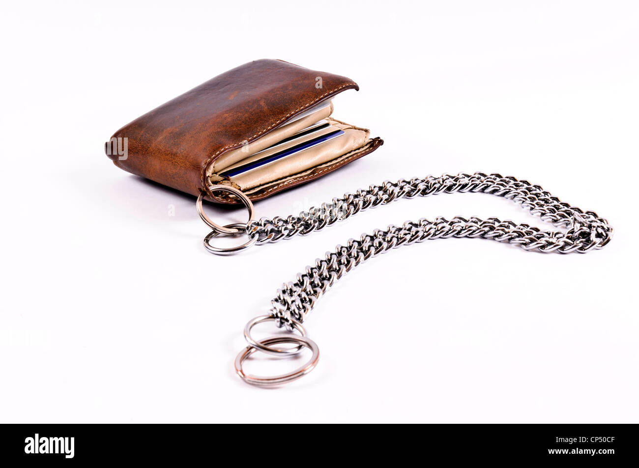 wallet and chain Stock Photo
