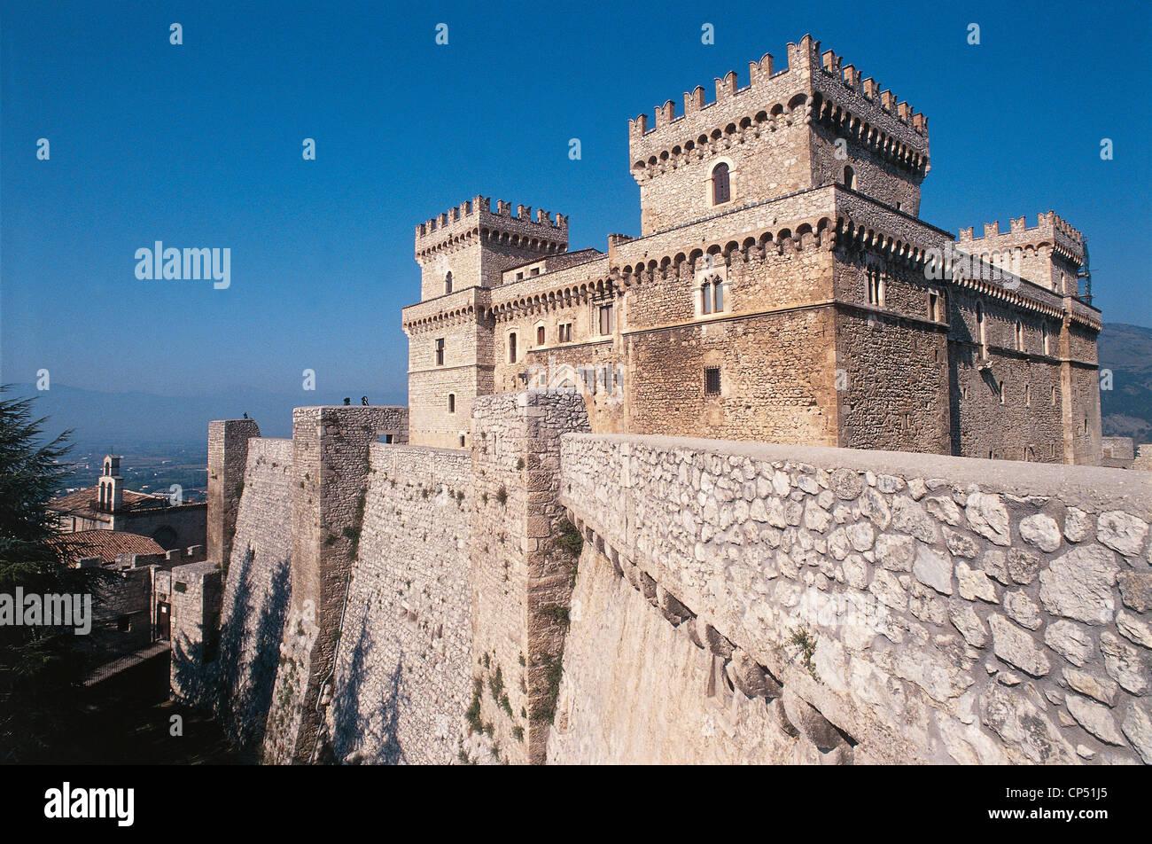 Abruzzo - Celano (Aq). Il Castello, the fifteenth century. - Stock Image