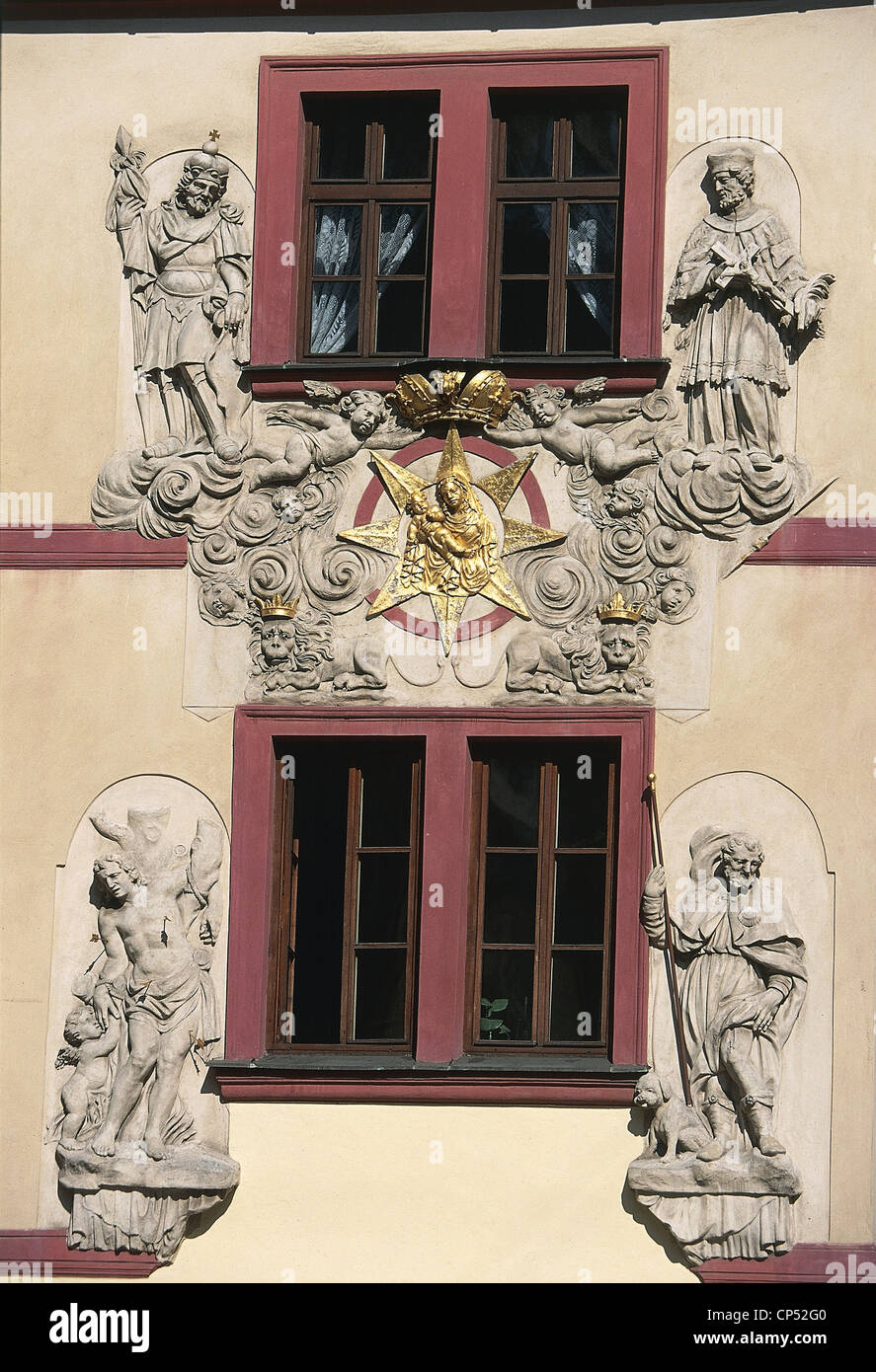 Czech Republic - Prague, Stare Mesto (Old Town, World Heritage Site by UNESCO, 1992), architectural detail. - Stock Image