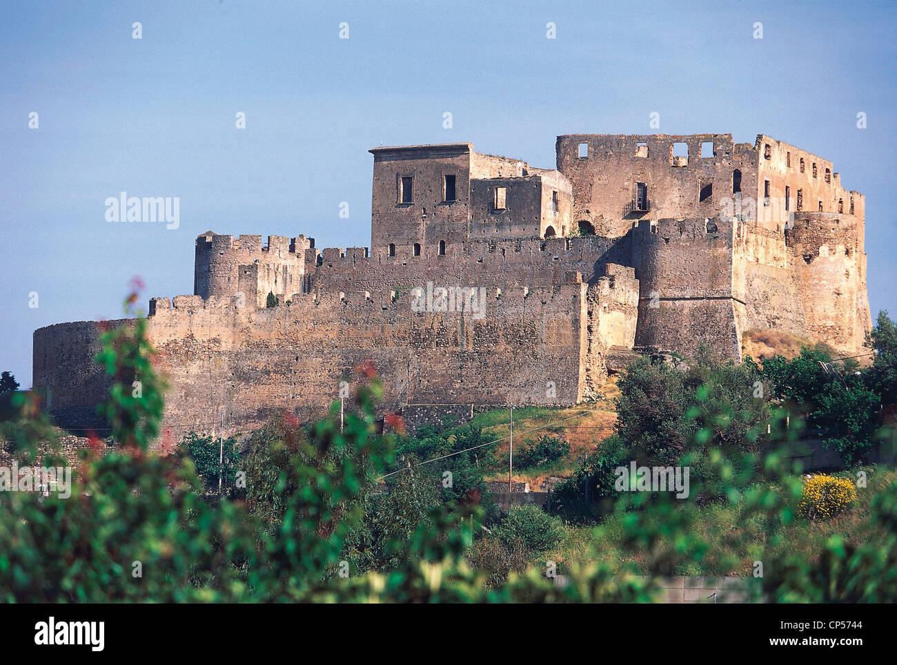 Calabria - Rocca Imperiale (CS). The castle of Frederick II, XIII century. - Stock Image