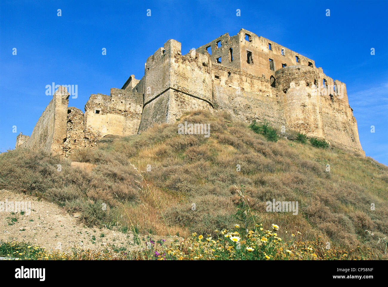 Calabria. Rocca Imperiale (CS), the castle of Frederick II. - Stock Image