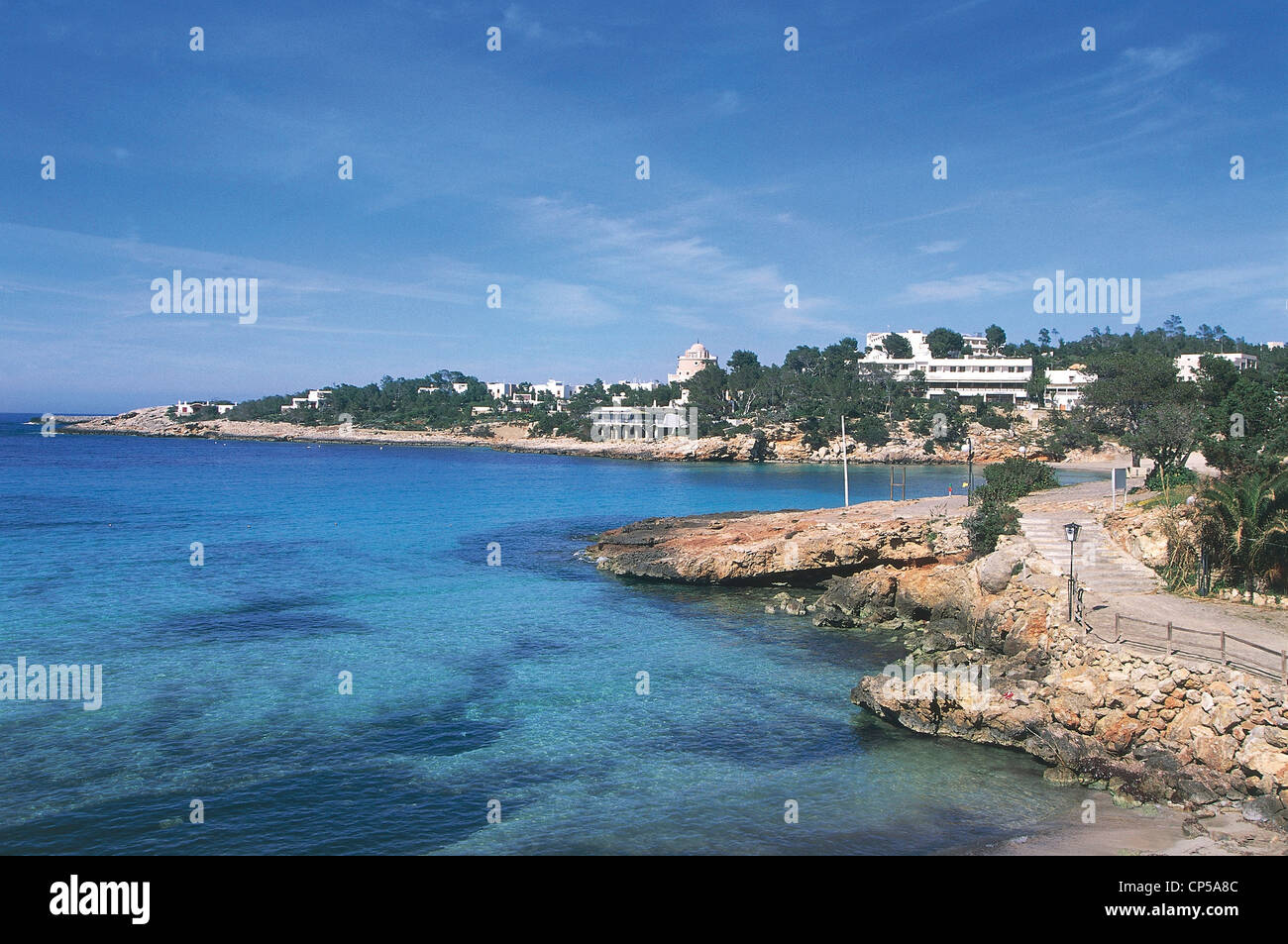 Spain - Balearic Islands - Ibiza - Es Cubells. - Stock Image