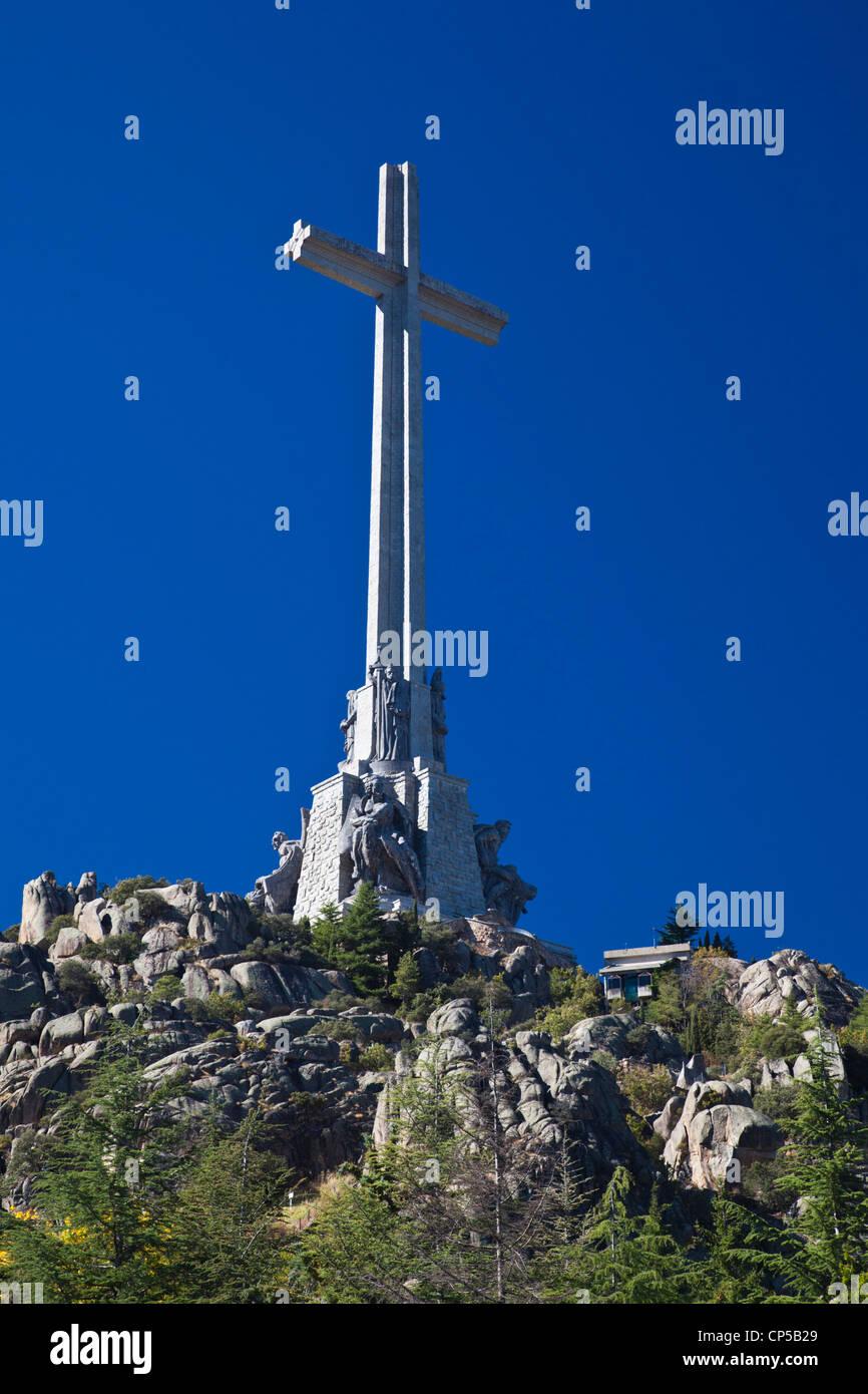 Spain, San Lorenzo de El Escorial, Valle de los Caidos, Valley of the fallen, monument to the casualty of the Spanish Stock Photo