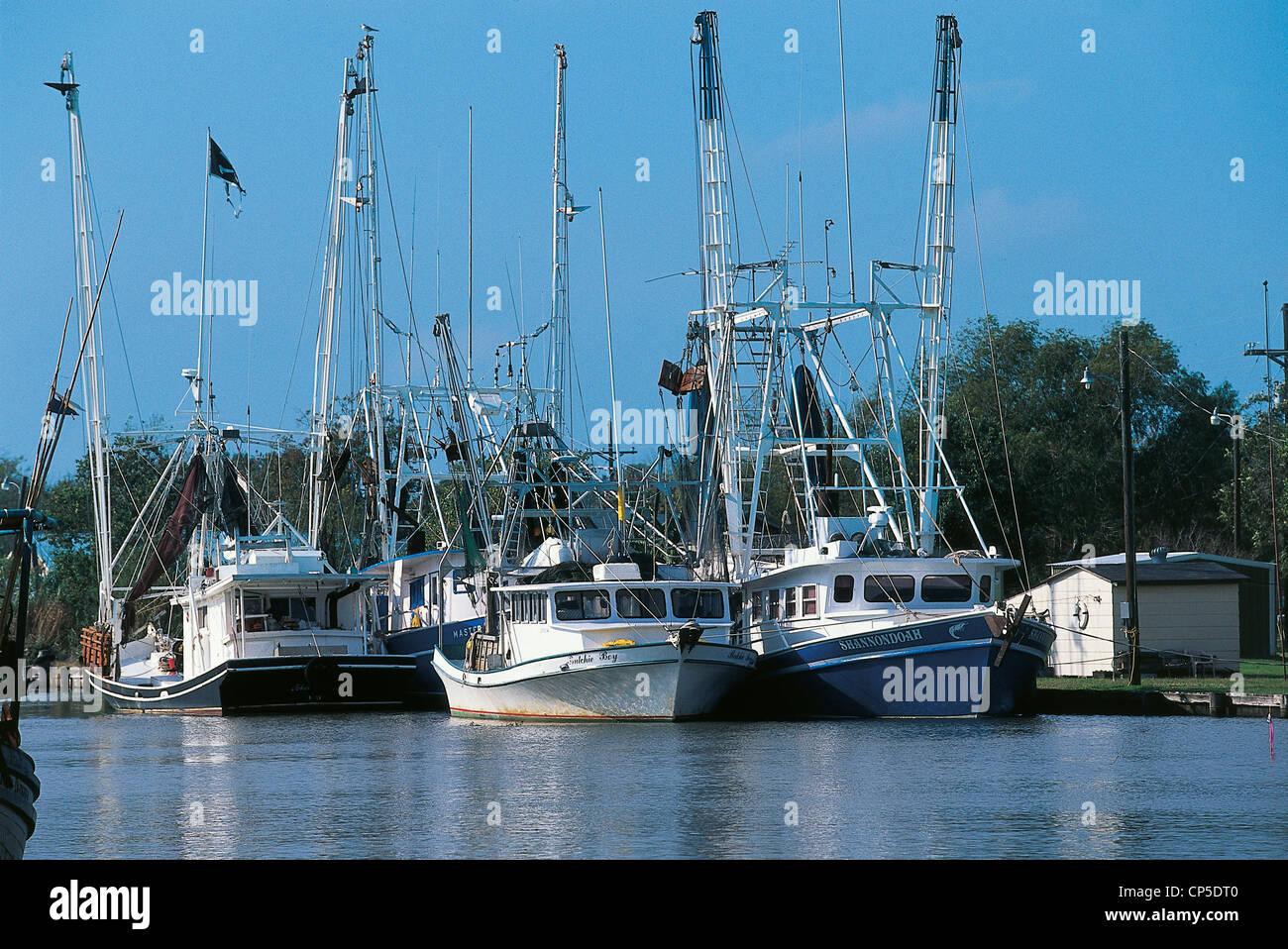 UNITED STATES OF AMERICA LOUISIANA Houma VESSELS - Stock Image