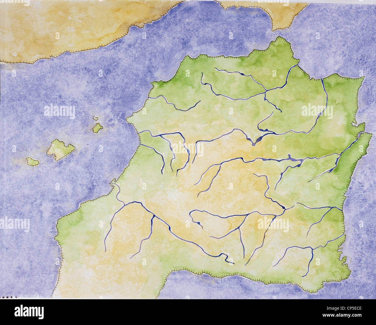 Image of: Cartography Outline Map Of The Iberian Peninsula With The Location Stock Photo Alamy