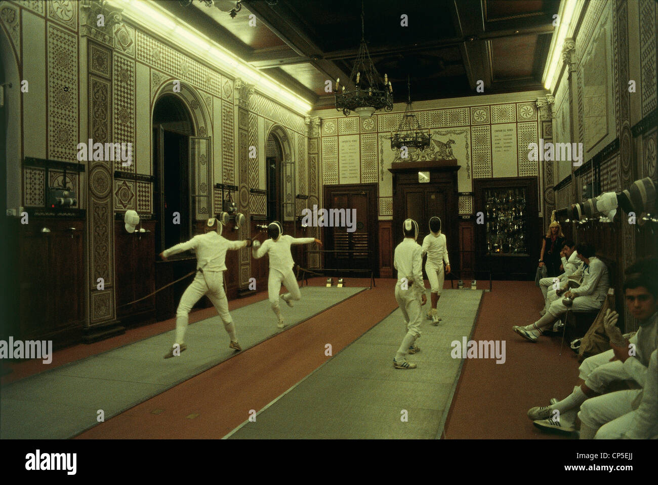Milan, Company 'The Garden Room Of Fencing - Stock Image