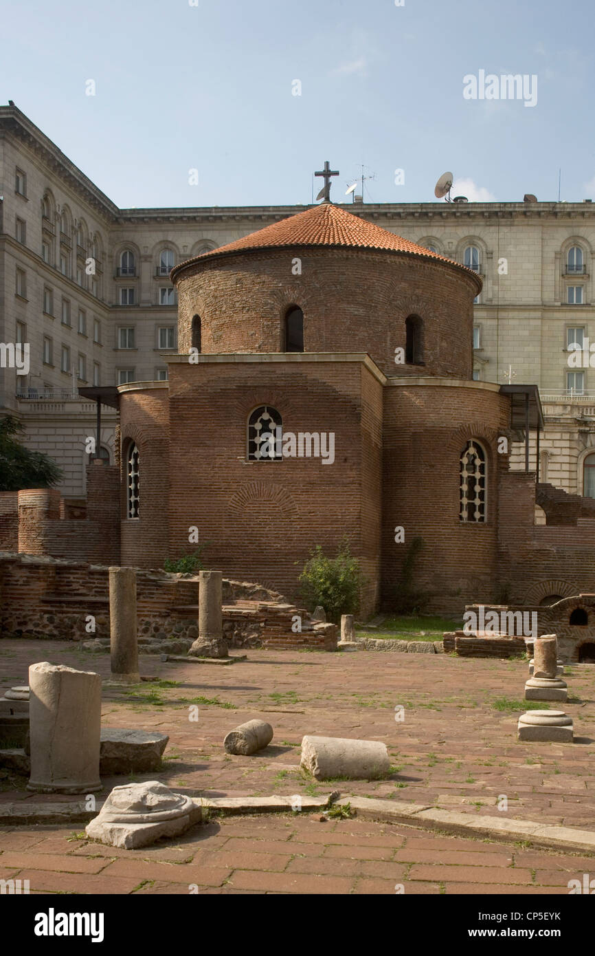 Bulgaria - Sofia. The church of St George (Sveti Georgi carkva, built between the second and fourth centuries) - Stock Image