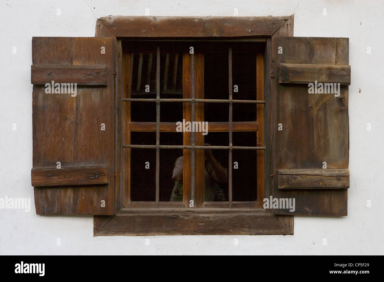 Bulgaria - Bansko. Neofit Rilski House-Museum, home to an exhibition dedicated to the Bulgarian educator. A window Stock Photo