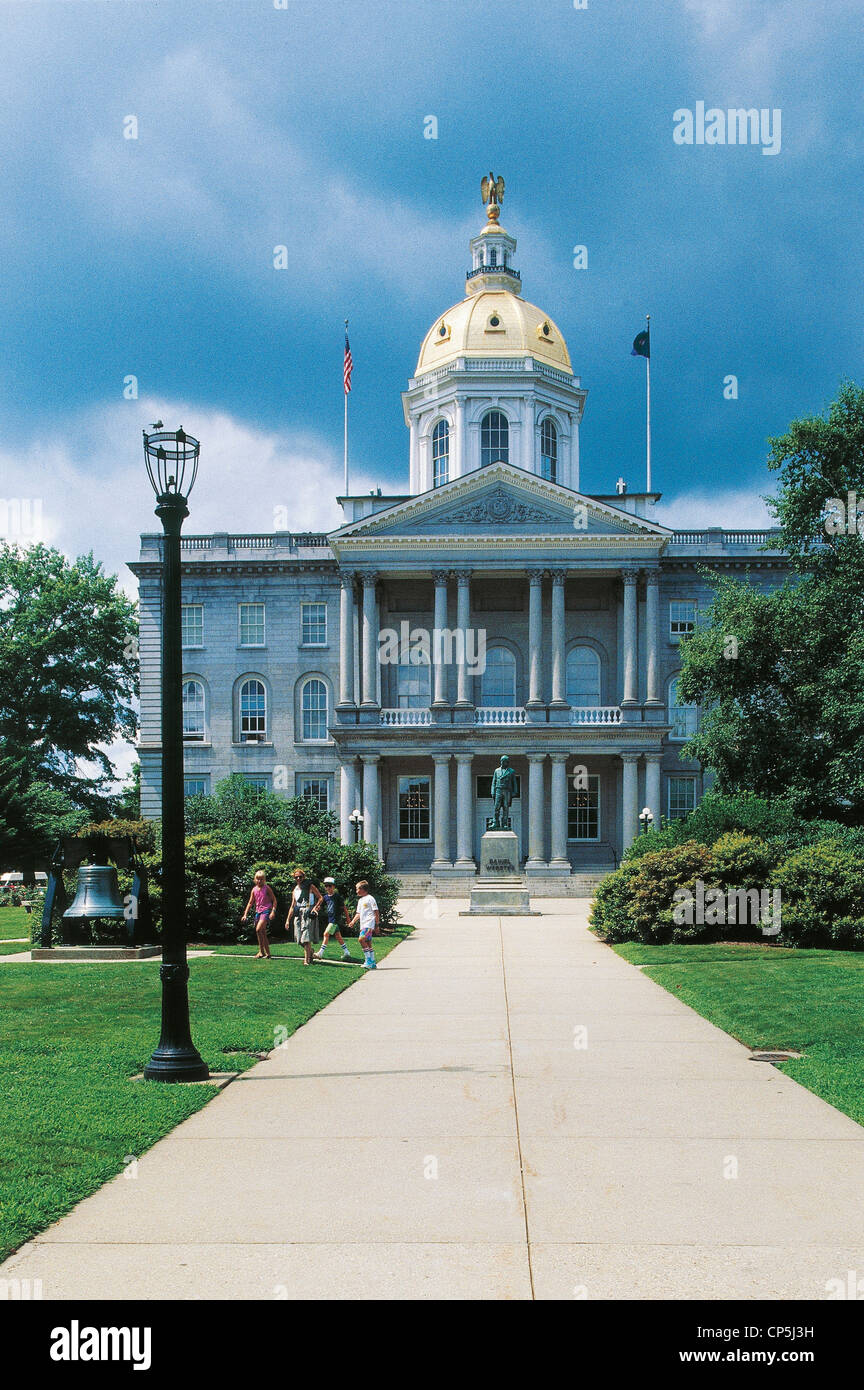 United States of America - New Hampshire - Concord. The Capitol. - Stock Image